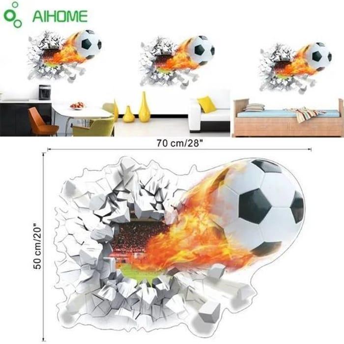 3D Football Wall Sticker