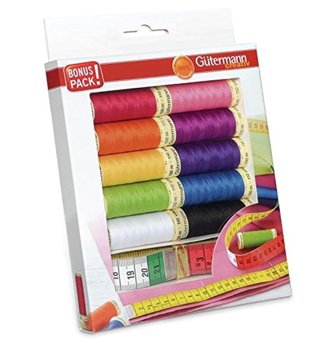 Gutermann Thread Set, Multi-Colour, 100m