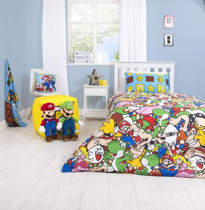 SUPER MARIO Single Duvet Cover (Reversible) with Matching Pillow Case