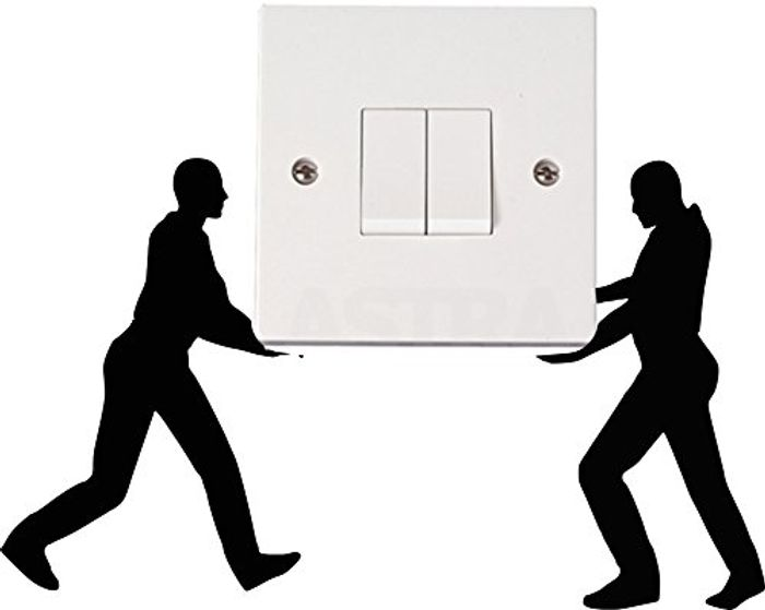 Funny Removal Men Light Switch Decal/Sticker Home - Set of 2