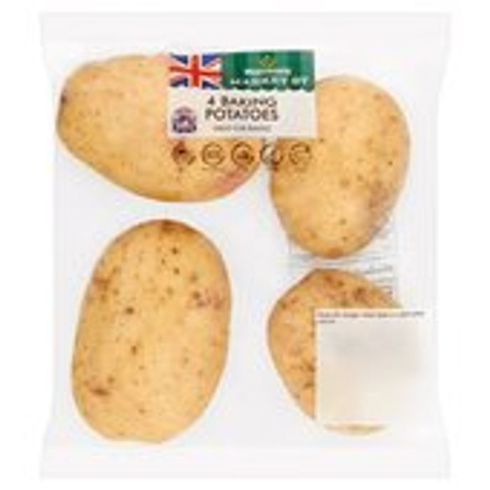 Morrisons Baking Potatoes 4 per Pack