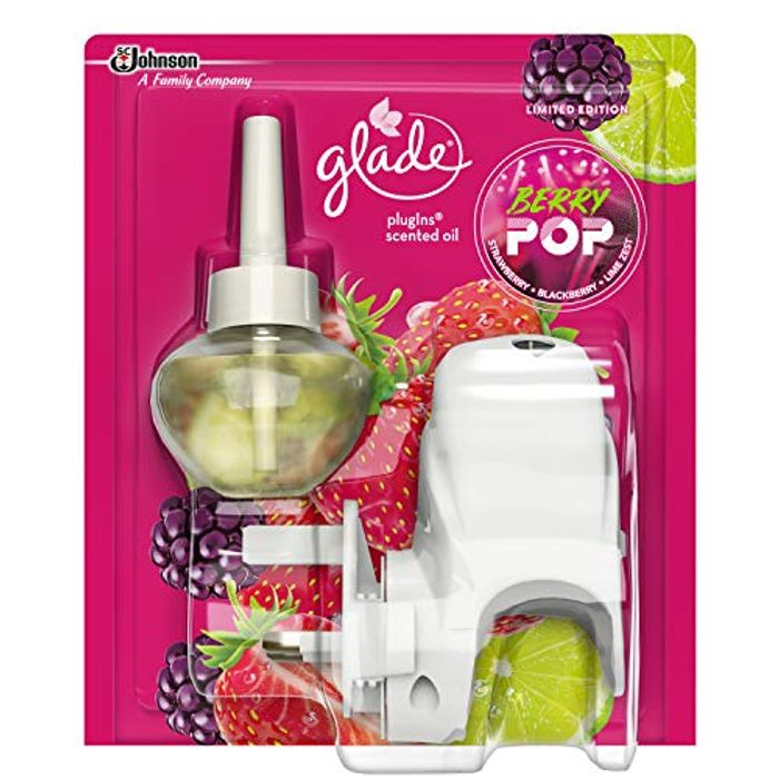 Glade Plugins Scented Oil Air Freshener, Berry Pop, 20 Ml