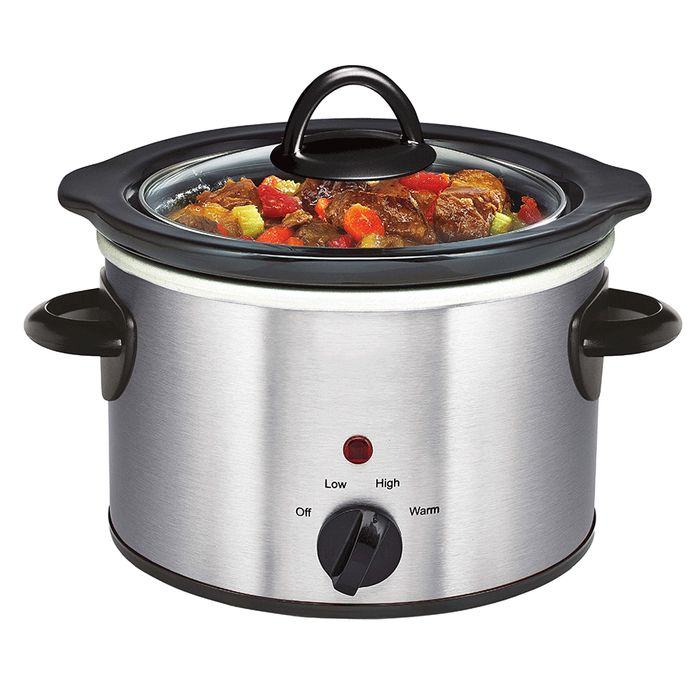Daewoo 1.5L Manual Slow Cooker - Stainless Steel