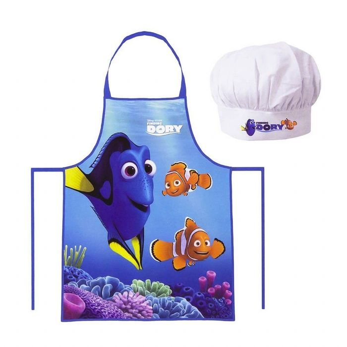 Disney Kids Finding Dory Children's Little Chef Cooking Apron & Hat