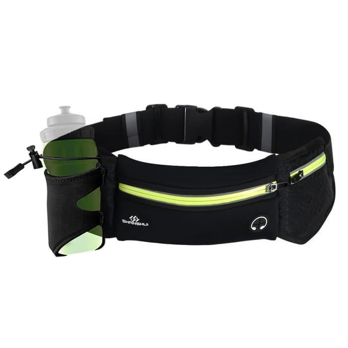Unisex Running Belt Waterproof Reflective Lightweight in Black