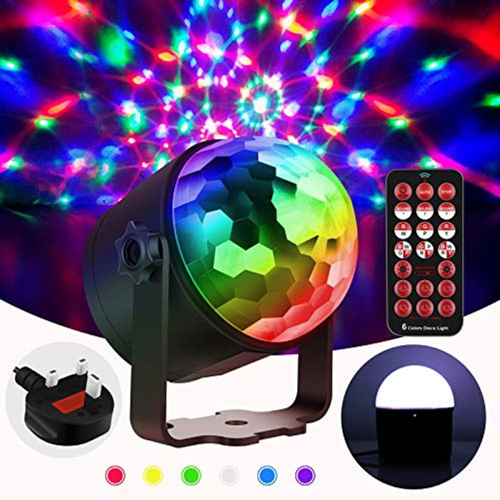 Deal Stack! Switti Sound Activated 6W Disco Ball Lights for £3.99 Only