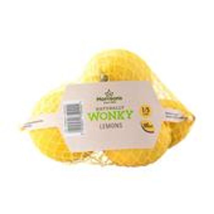 Offer - Morrisons Market St Wonky Lemons 4 per Pack