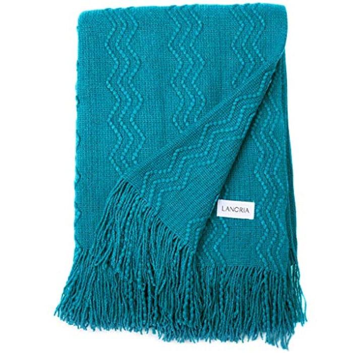 LANGRIA Premium Knitted Throw Blanket