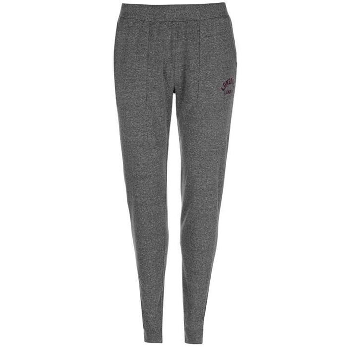 Lonsdale Jersey Sweatpants Ladies (Dark Grey or Blush Pink)