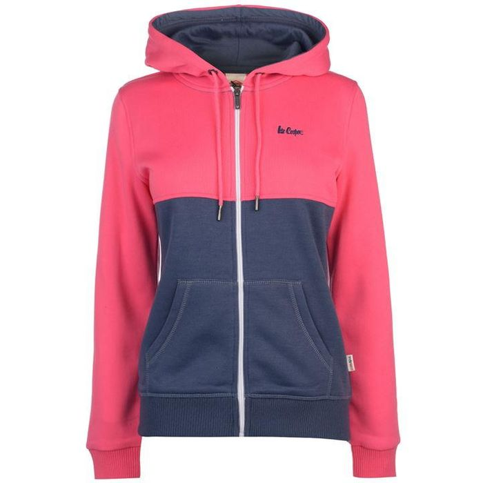 Lee Cooper Cut and Sew Zip Hoodie Ladies (Different Colours Available)