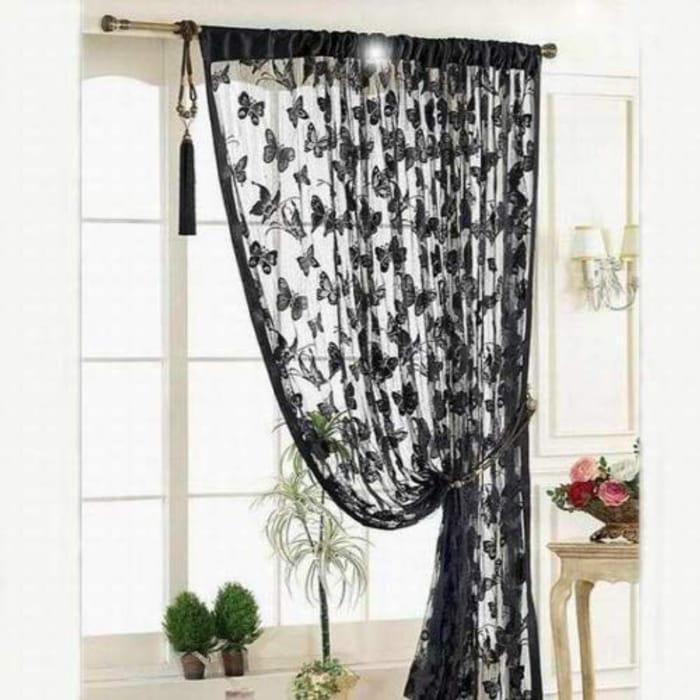 Luxury Black Curtain/Room Divider