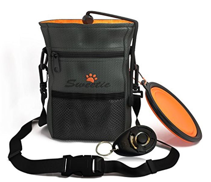 Dog Treat Pouch Bag with Poop Bag Holder and More