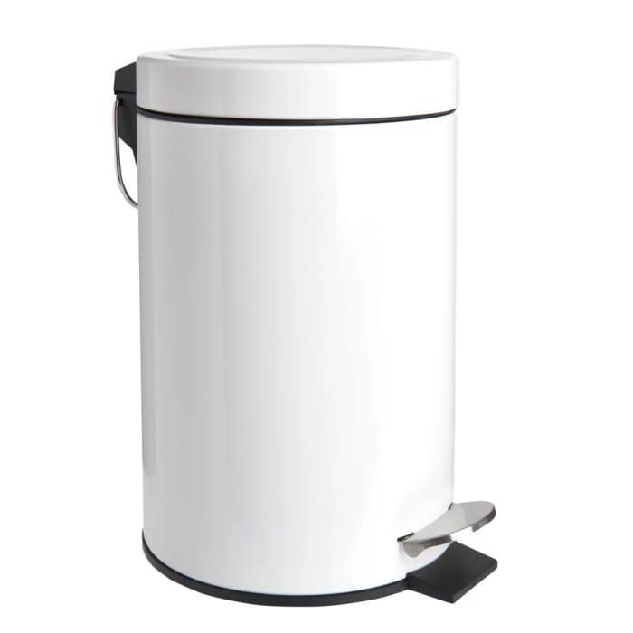 Wilko Small White Dome Pedal Bin - Save £1.50
