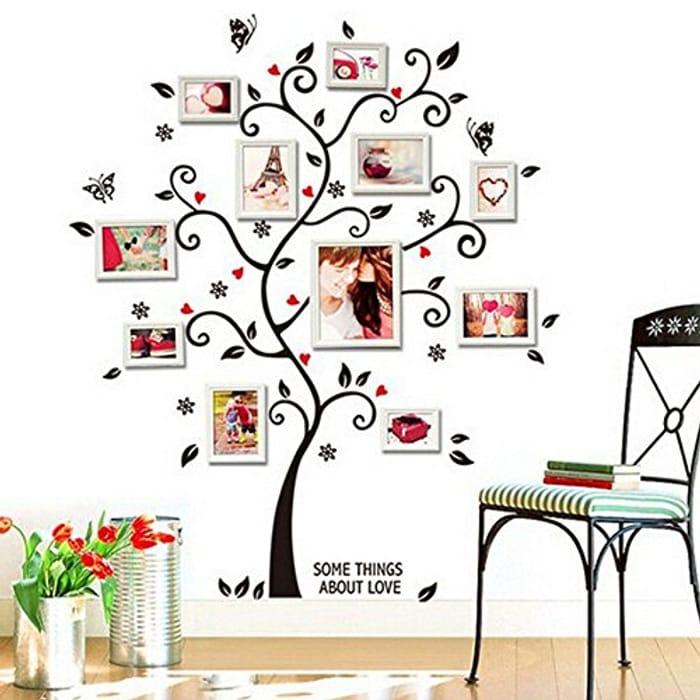 DIY Family Tree Wall Art Stickers Removable Vinyl Black Trees
