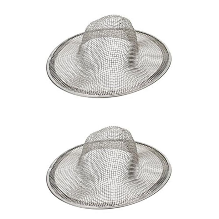 Sink Drain Strainer Basket Wire Mesh Hole Basin Drain Filter Pack of 2