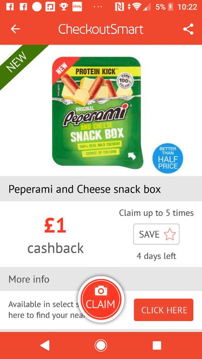 Pepperami and Cheese Snack Box