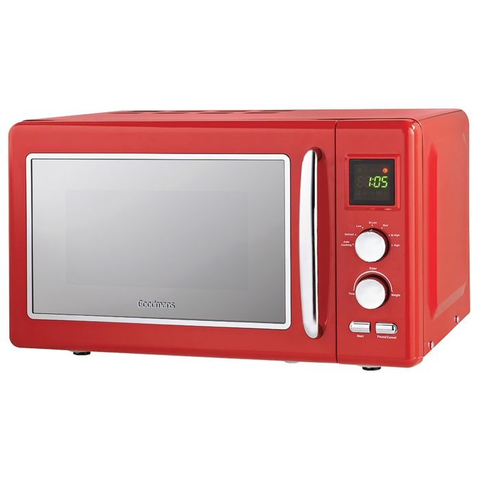 Goodmans Digital Cheap Microwave 20L Red NOW £49.00 WAS £59.99