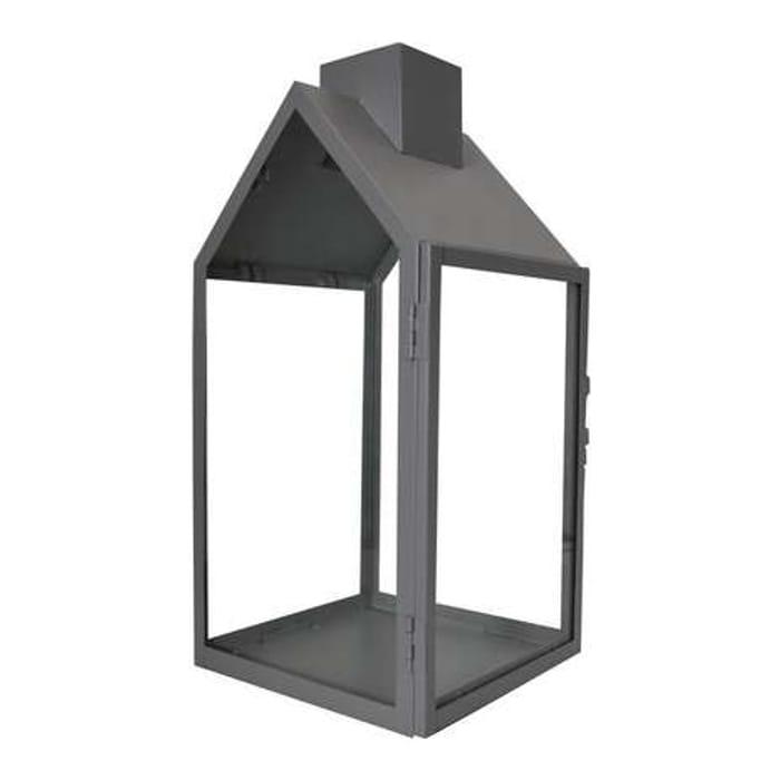 Grey House Shaped Lantern
