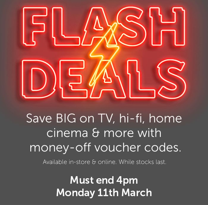 Flash Deals - Now On!