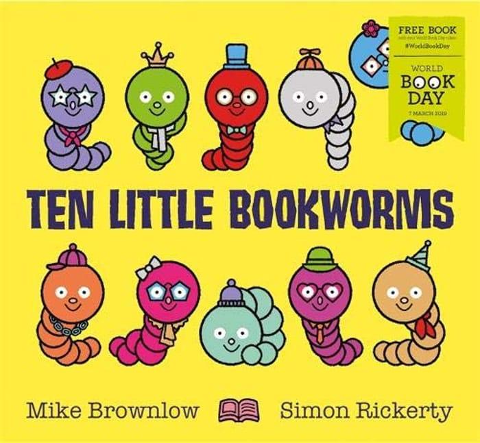 Ten Little Book Worms Book. Only £1