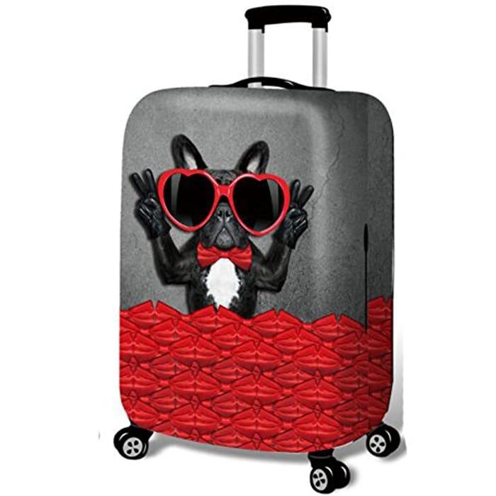 YEKEYI Washable Travel Luggage Cover - Glasses Dog Size M - FREE DELIVERY