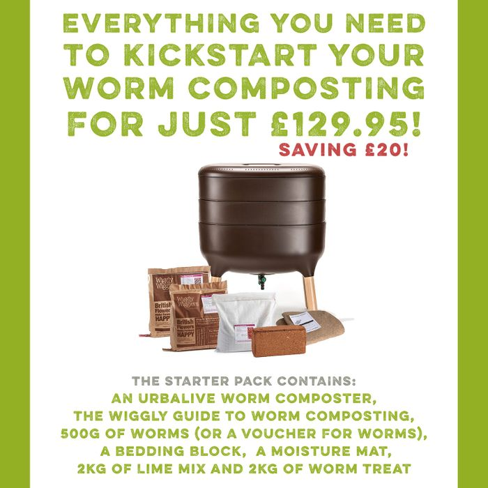 Complete Urbalive Kit (Worm Composting Kit) £20 Off