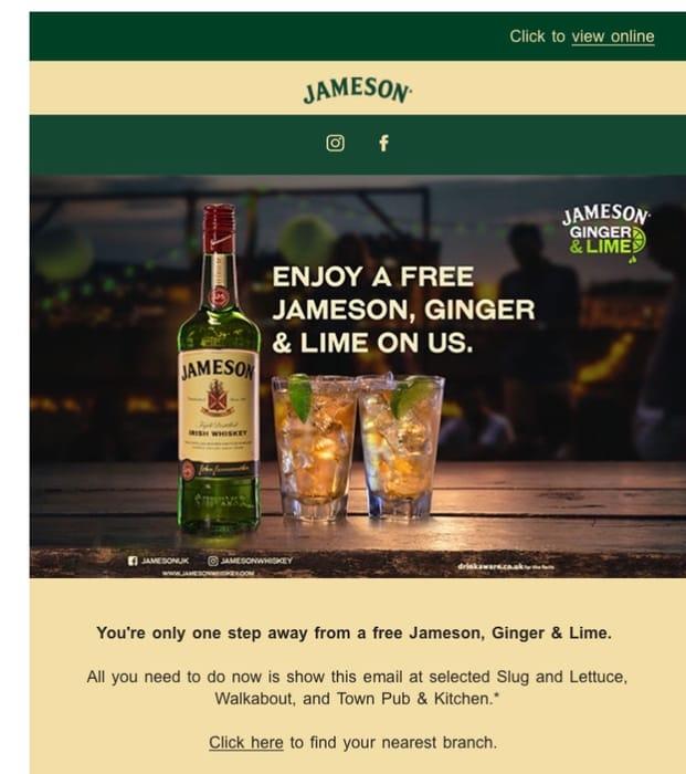 Free Jamesons