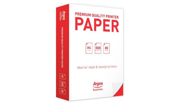 Argos Essential A4 Premium Printing Paper - 500 Sheets Only £2.99
