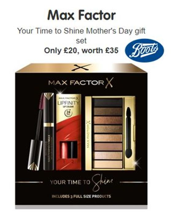 4eebfd5ee71 Max Factor Mother's Day Gift Set £20 at BOOTS | LatestDeals.co.uk