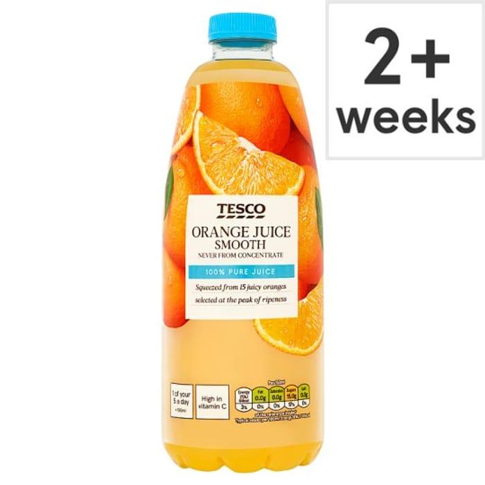 Tesco Smooth Orange Juice 1 Ltr