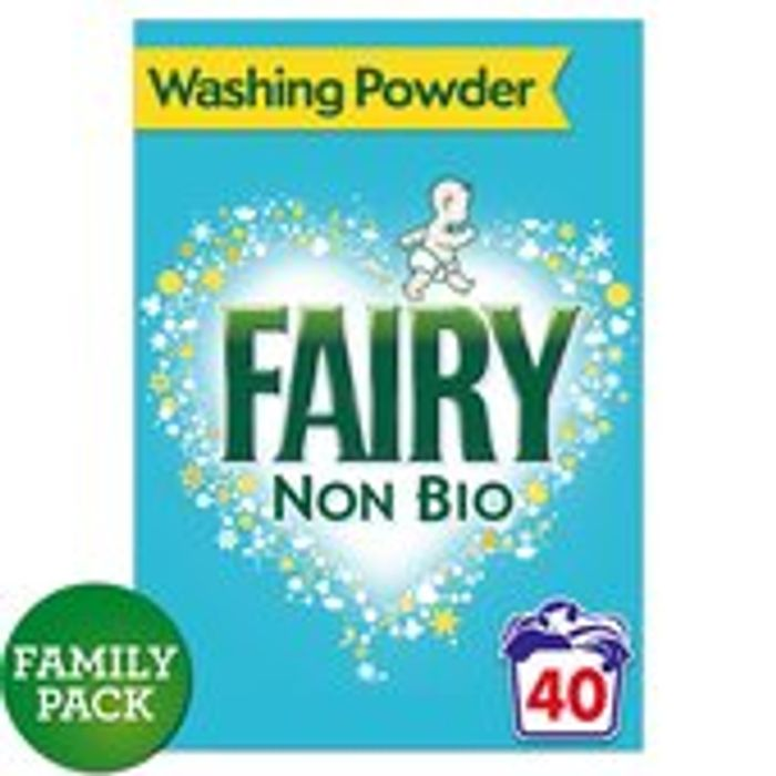 Fairy Non Bio Washing Powder 40 Washes 2.6kg the Big Box!
