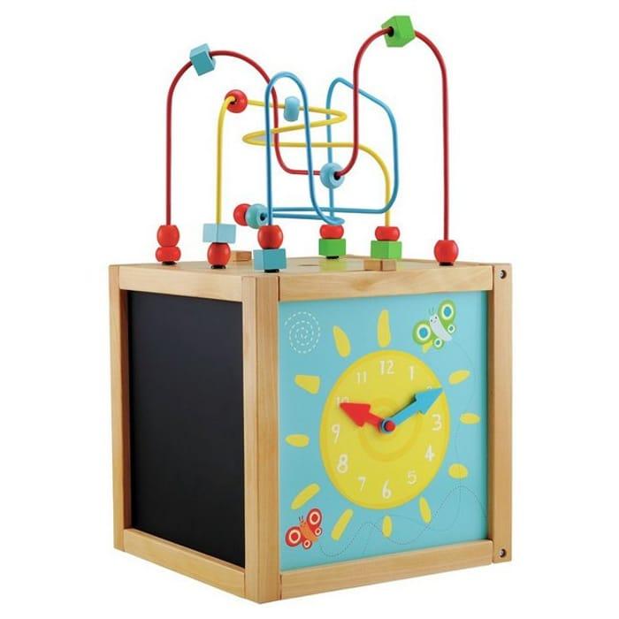ELC Wooden Activity Cube for Children large size