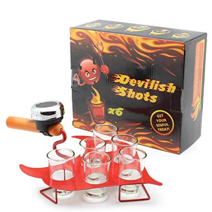 DEAL STACK! DECO EXPRESS Devilish Tray Shots Drinking Game for £1.99 Only