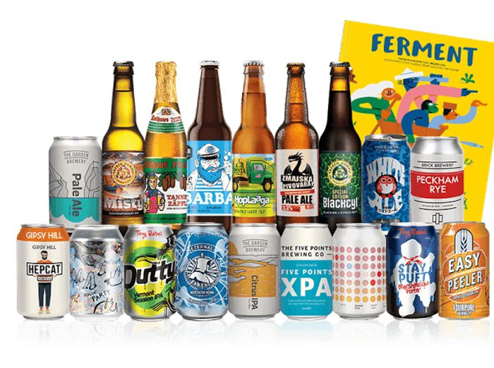 18 Craft Beers for £18, £5.95 Postage, No Subscription