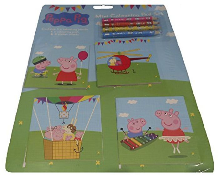 Peppa Pig Mini Colouring Pad Set of 4 with Pencils