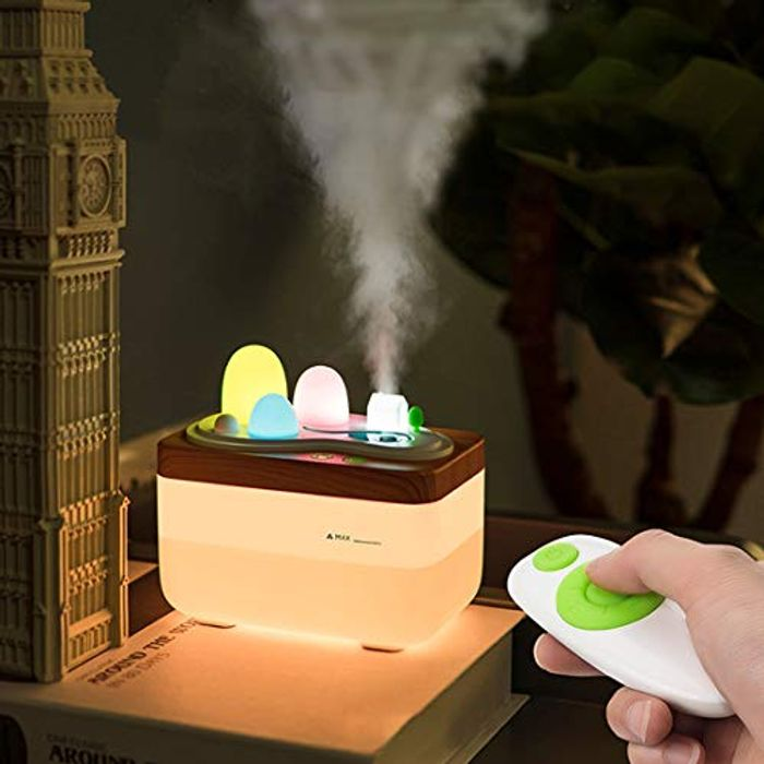 3 in 1 Cool Mist Humidifier-Essential Oil Diffuser-Adjustable Night Light