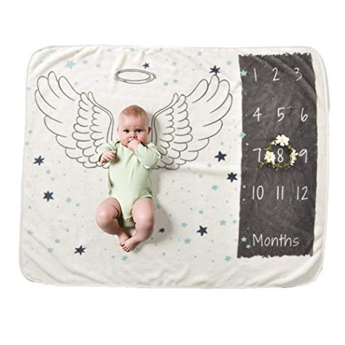 Gugio Baby Milestone Backdrop Blanket (Use 70% off Promo)