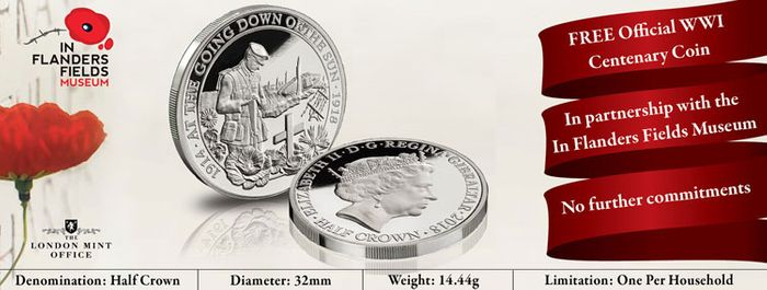 FREE Official in Flanders Fields Museum Coin