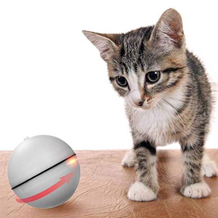 Automatic Rolling Ball LED Light Interactive Toys for Cats and Dogs