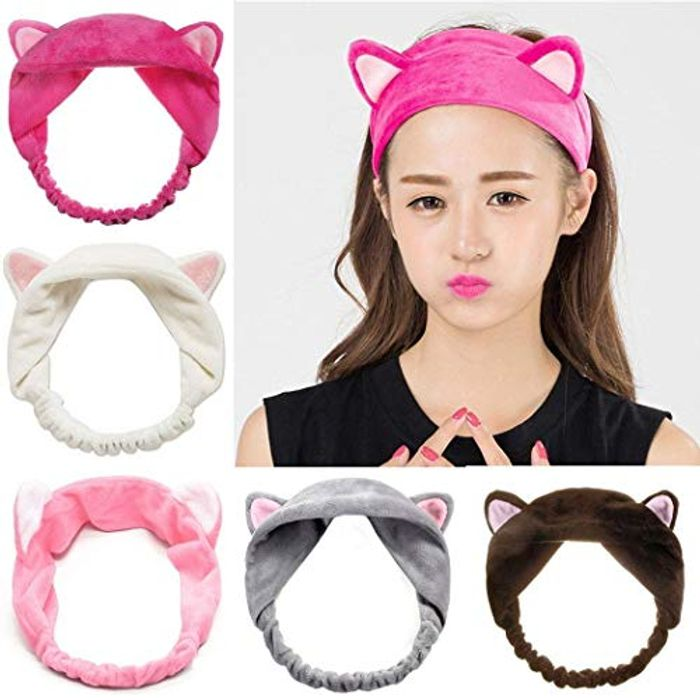 80% off Hairband with Cat Ears - 7 Colours