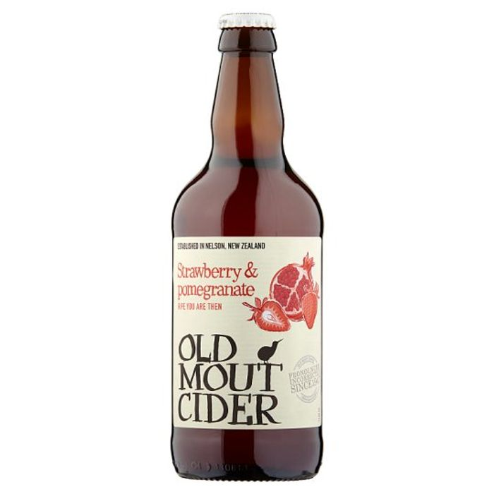 Old Mout Pomegranate and Strawberry Cider 500Ml Bottle Any 3 for £5.25
