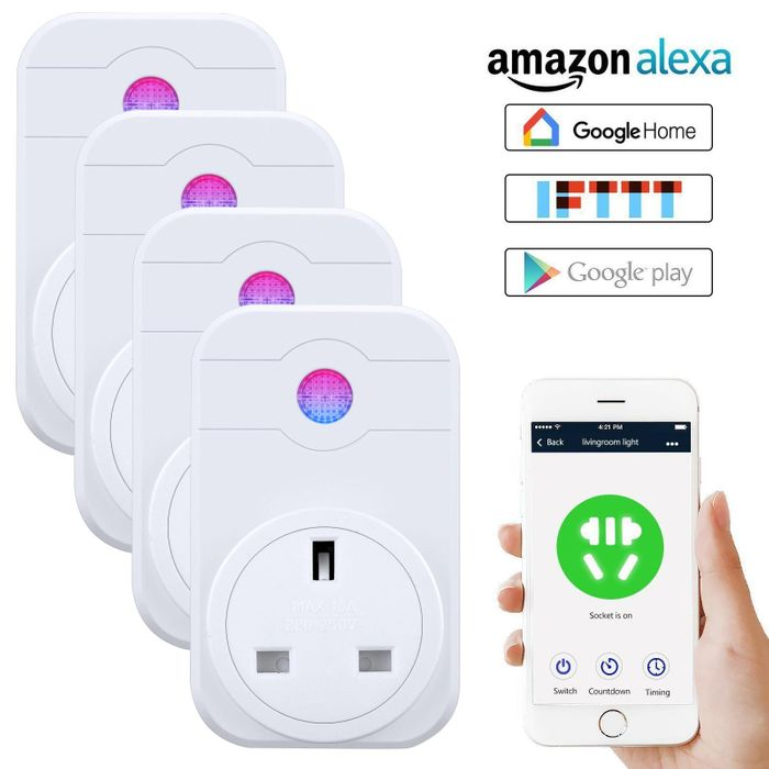 Big Discount - Smart Wifi Socket Outlet Plug with Remote Voice Control