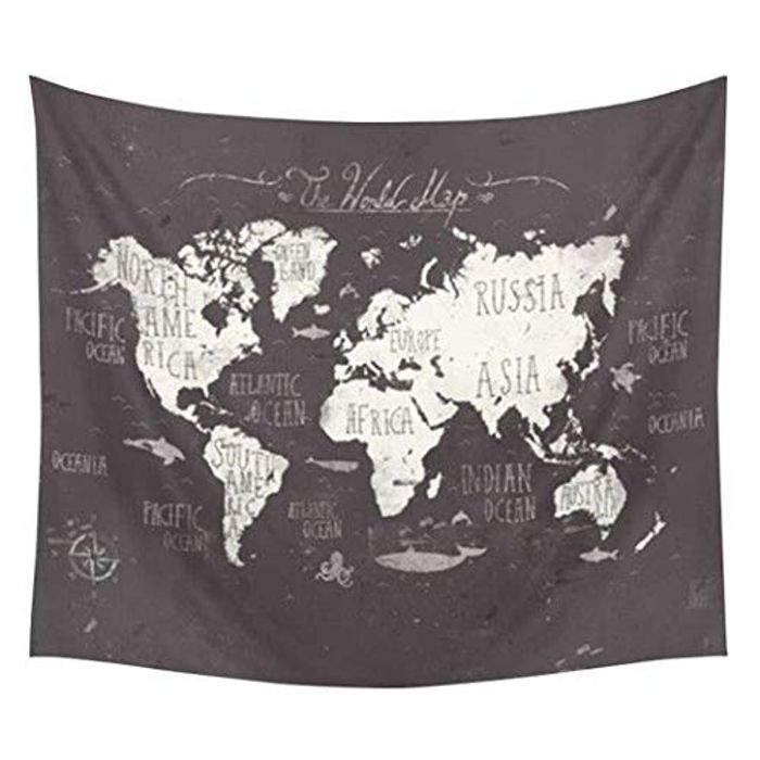 World Map Tapestry Buy One, save 70% + Free Delivery