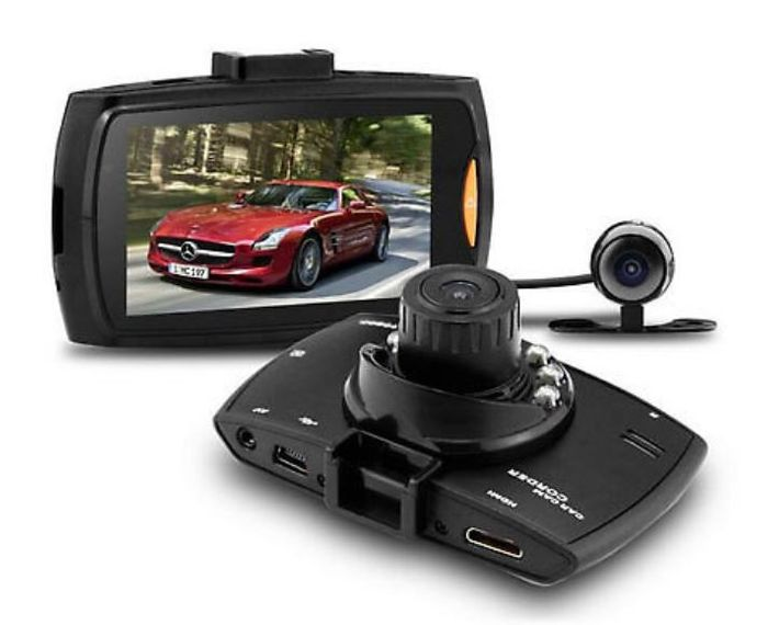 EagleCam HD Front & Rear Dash Cam + Collision G-Sensor