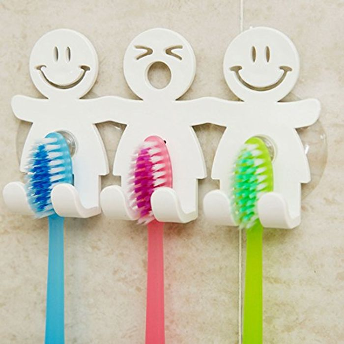 Cute/funny Wall Suction Toothbrush Holder