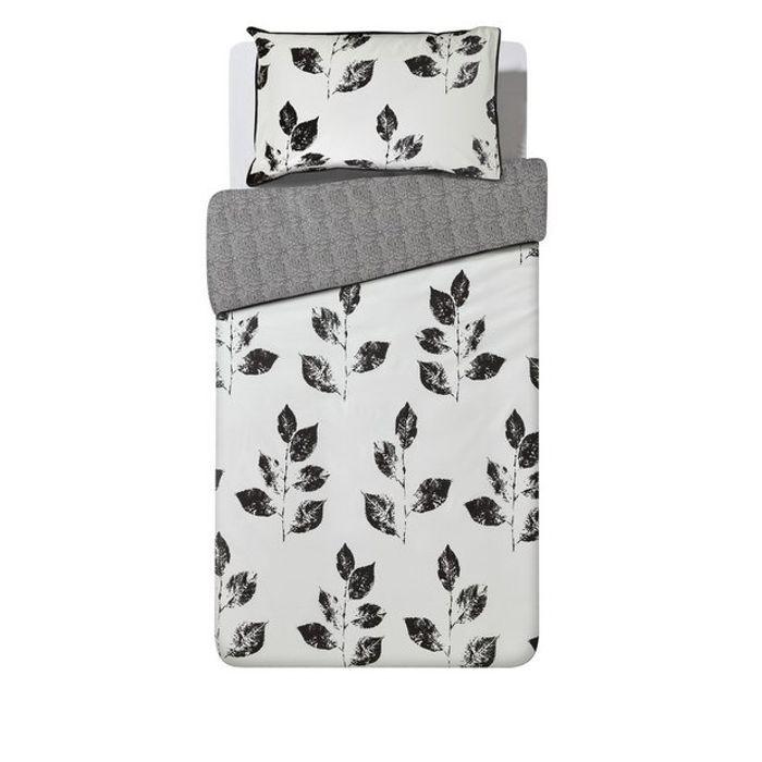 Argos Home Artisan Leaf Bedding Set - Single