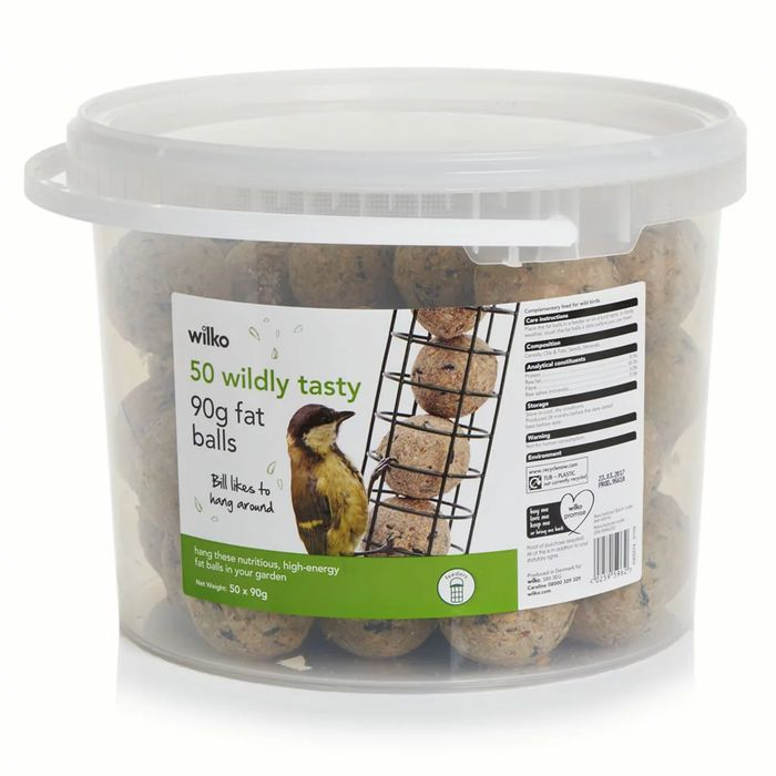 Wilko Wild Bird Fat Balls 50 X 90g Bird Food