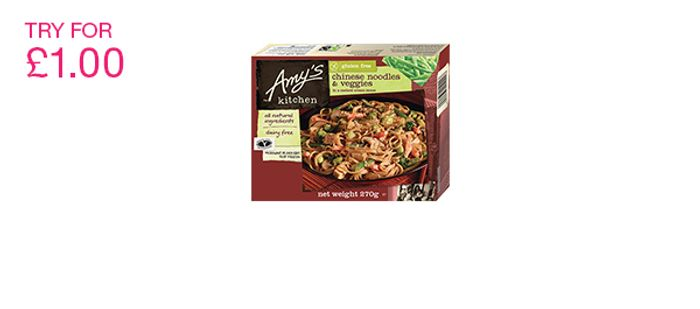 Amy's Kitchen Ready Meals Try for £1