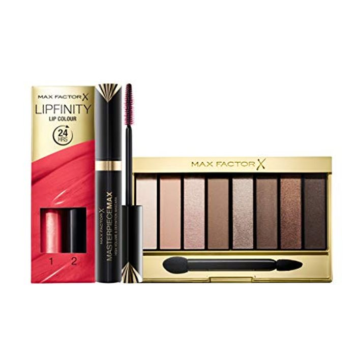 Max Factor Mother's Day Gift Set Palette, Lip Colour and Masterpiece Max Mascara
