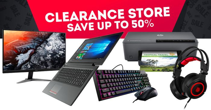 Save up to 50% at Ebuyer Clearance Store.